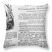 Abolition Meeting, 1837 Throw Pillow