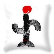 Aboriginal Figure Throw Pillow
