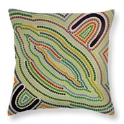 Aboriginal Inspirations 17 Throw Pillow