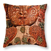 Aborigine Carved Figure Throw Pillow