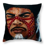 Aborigine Hunter Throw Pillow