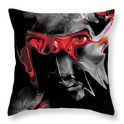 About Face Abstract Portrait Throw Pillow