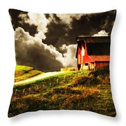 About To Storm Throw Pillow