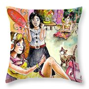 About Women And Girls 03 Throw Pillow