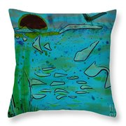 Above And Beneath The Sea Throw Pillow