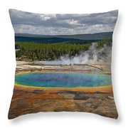 Above Grand Prismatic Throw Pillow