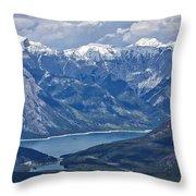 Above Lake Minnewanka #2 Throw Pillow