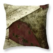Above The Barn Throw Pillow