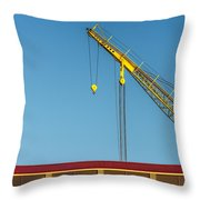Above The Boathouse Throw Pillow