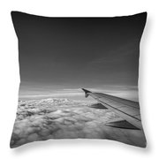 Above The Clouds Bw Throw Pillow