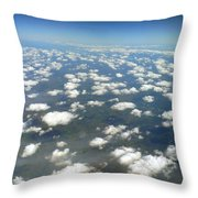 Above The Clouds II Throw Pillow