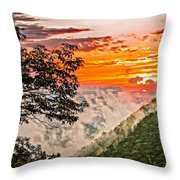 Above The Clouds - Paint Throw Pillow