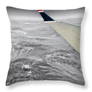 Above The Clouds Wing Tip View Sc Throw Pillow