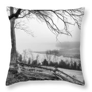 Above The Creek Throw Pillow
