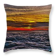 Above The Marine Layer V3 Throw Pillow
