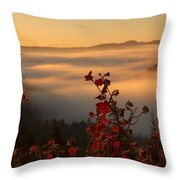 Above The Mists Throw Pillow