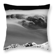 Above The Peaks Throw Pillow