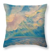 Above The Sun Splashed Clouds Throw Pillow