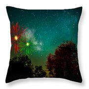 Above The Trees Below The Stars Celebration  Throw Pillow