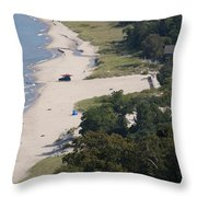 Above View Of Empires Beach Throw Pillow