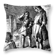 Abraham Darby (1678-1717) Throw Pillow