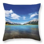 Abraham Lake Alberta Canada Throw Pillow