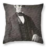 Abraham Lincoln, 1809 – 1865.  16th President Of The United States Of America.  From Abraham Throw Pillow