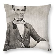 Abraham Lincoln, 1809 – 1865, Seen Here In 1854.  16th President Of The United States Of America Throw Pillow