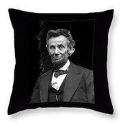 Abraham Lincoln 2  Alexander Gardner Photo Washington Dc  February  1865 Throw Pillow