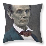 Abraham Lincoln Throw Pillow by American Photographer