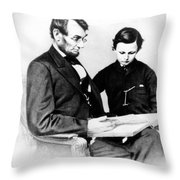Abraham Lincoln And Tad Throw Pillow