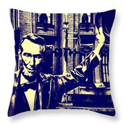 Abraham Lincoln At Gettysburg Throw Pillow