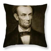 Abraham Lincoln Throw Pillow by Francis Bicknell Carpenter