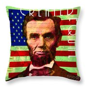 Abraham Lincoln Gettysburg Address All Men Are Created Equal 20140211p68 Throw Pillow