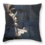 Abraham Lincoln Mount Rushmore National Monument Throw Pillow