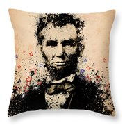 Abraham Lincoln Splats Color Throw Pillow