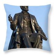 Abraham Lincoln Statue Philadelphia Throw Pillow