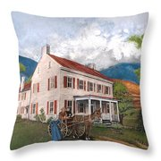 Abraham Lincoln's Ancesteral Home Throw Pillow