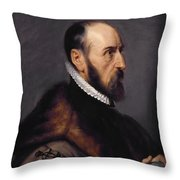 Abraham Ortelius Throw Pillow