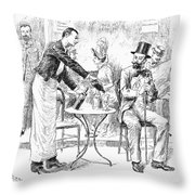 Absinthe, 1887 Throw Pillow