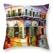 Absinthe House New Orleans Throw Pillow