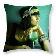 Absinthe Throw Pillow by Jason Longstreet