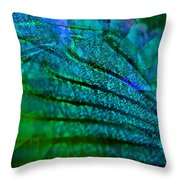 Absolute Blue Throw Pillow by Michael Durst