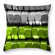Absolutely Nuts Lime Green Wall Art I Throw Pillow by Natalie Kinnear