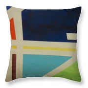 Abstracat Exhibit Throw Pillow