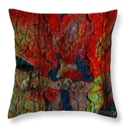 Abstract - Emotion - Annoyance Throw Pillow