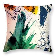 Abstract - Splashes Of Color Throw Pillow