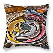 Abstract - Vehicle Recycling Throw Pillow