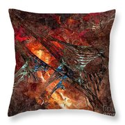 Abstract 0358 - Marucii Throw Pillow