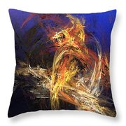 Abstract 042113a Throw Pillow